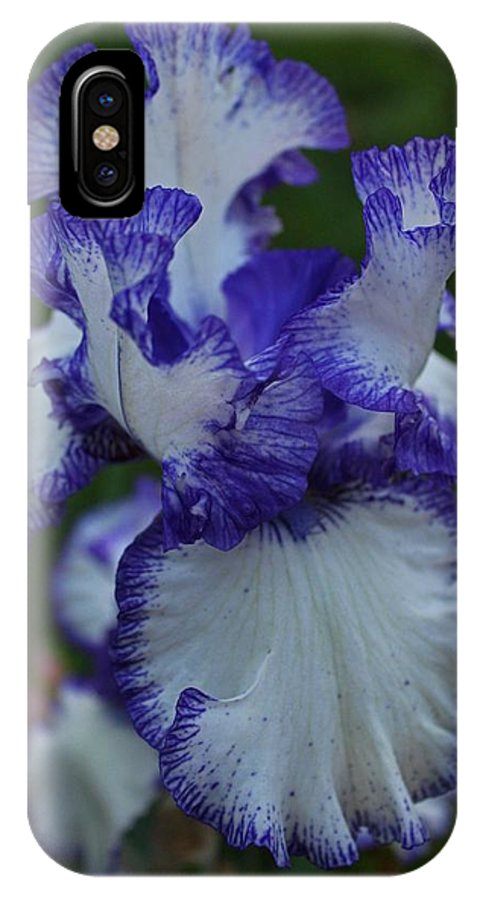 Iris IPhone X Case featuring the photograph Indelible Passion by Michiale Schneider