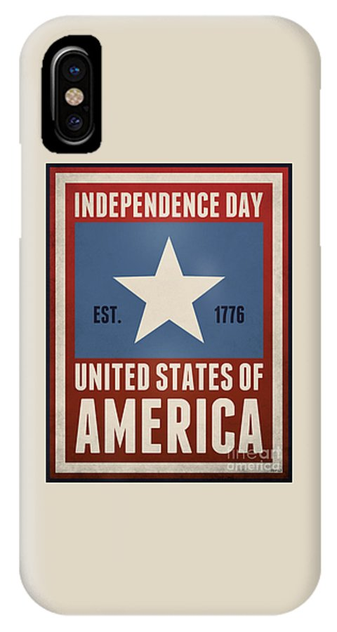 Graphics IPhone X Case featuring the digital art Independence Day by Phil Perkins