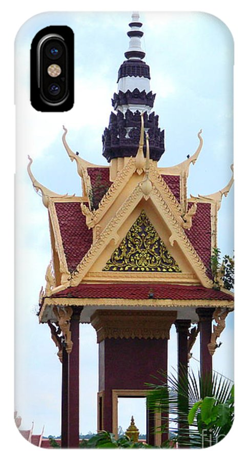 Cambodia IPhone X Case featuring the photograph Independence Park 11 by Randall Weidner