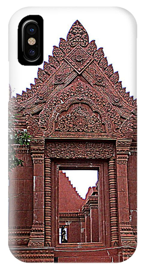 Cambodia IPhone X Case featuring the photograph Independence Park 4 by Randall Weidner