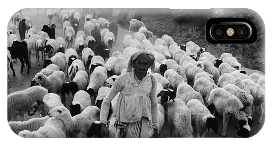 1966 IPhone X Case featuring the photograph India: Shepherd, 1966 by Granger