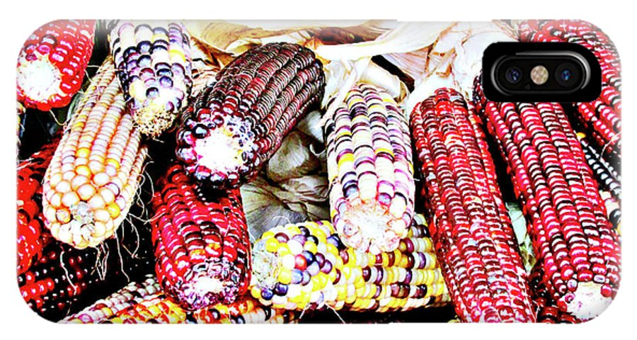 Corn IPhone X Case featuring the photograph Indian Corn by Don Baker