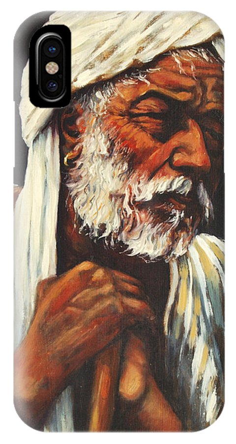 India IPhone Case featuring the painting Indian Man by Rick Nederlof