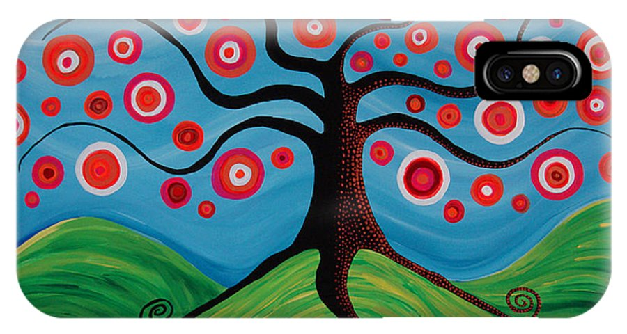 Tree IPhone X Case featuring the painting Indian Summer by Pamela Cisneros