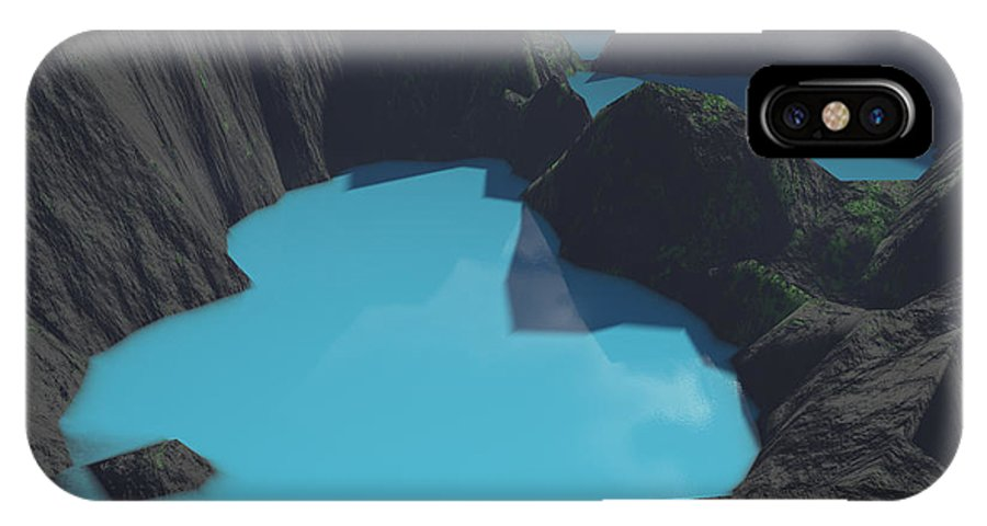 Basalt IPhone Case featuring the digital art Indonesian Crater Lakes by Gaspar Avila