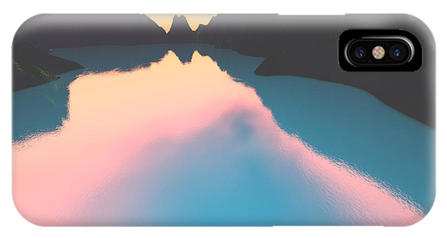 Crater IPhone X Case featuring the digital art Indonesian Crater Lakes II by Gaspar Avila