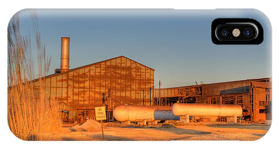 Industry IPhone X Case featuring the photograph Industrial Site 1 by Douglas Barnett