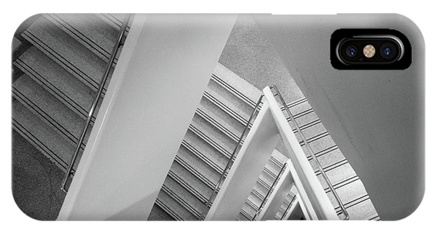 America IPhone X Case featuring the photograph Infinite Stairs by Inge Johnsson