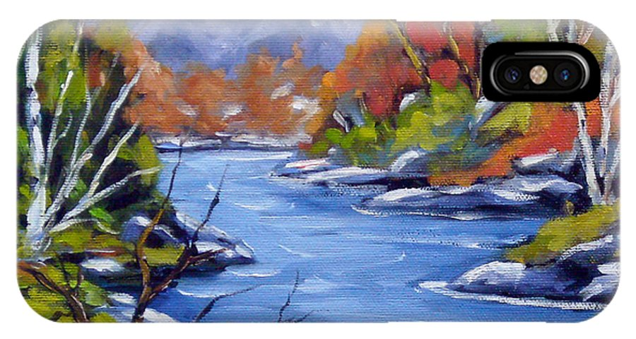 Art IPhone X Case featuring the painting Inland Water by Richard T Pranke