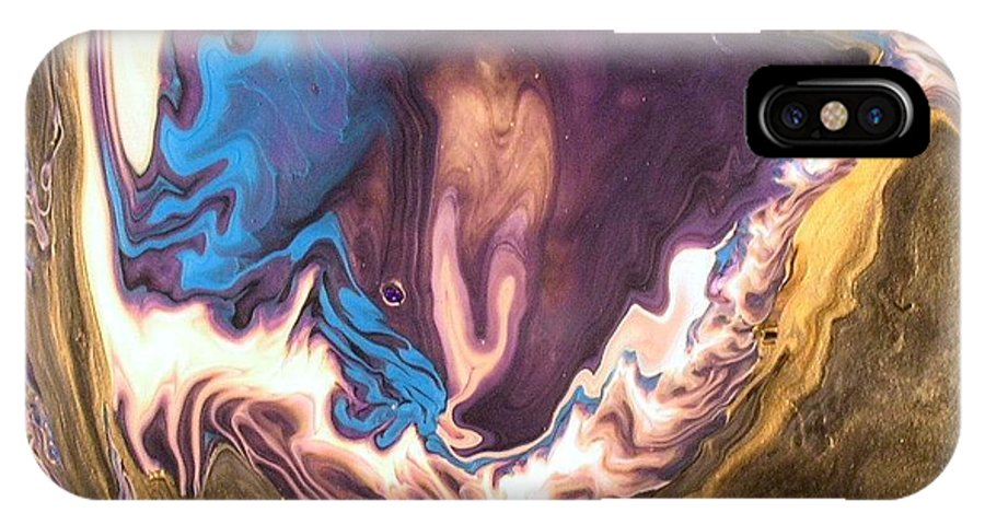 Abstract IPhone X Case featuring the painting Inner Flame by Patrick Mock