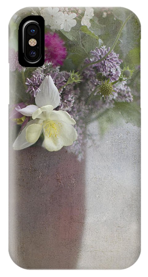 Flowers IPhone X Case featuring the photograph Inner Glow by Rebecca Cozart