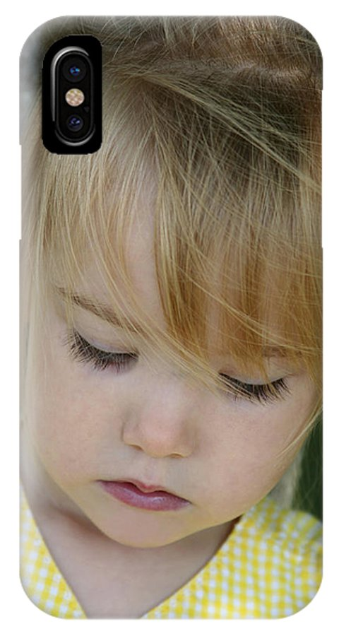 Angelic IPhone X Case featuring the photograph Innocence II by Margie Wildblood