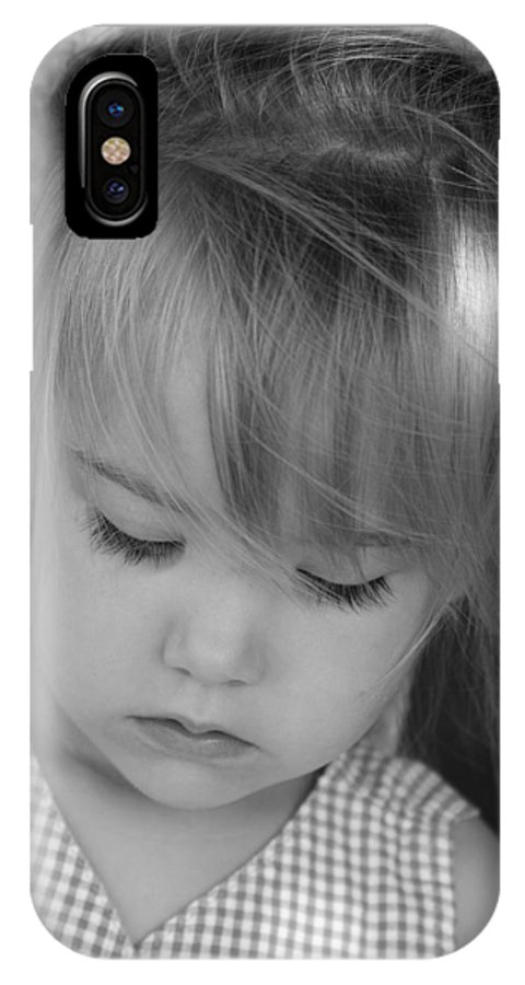 Angelic IPhone X Case featuring the photograph Innocence by Margie Wildblood
