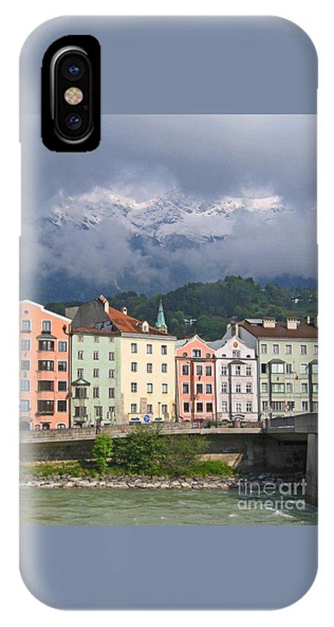 Innsbruck IPhone X Case featuring the photograph Innsbruck by Ann Horn