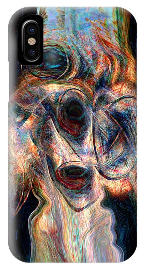 Insane Art IPhone X Case featuring the digital art Insane by Linda Sannuti