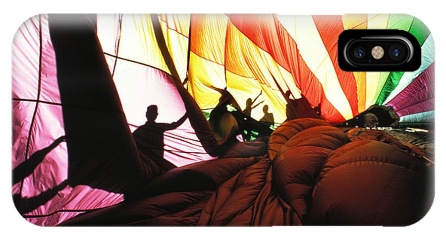 Color IPhone X Case featuring the photograph Inside A Hot Air Balloon by Carl Purcell