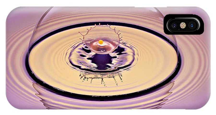 Water Drop Collision IPhone X / XS Case featuring the photograph Inside A Saturn Bubble by Susan Candelario