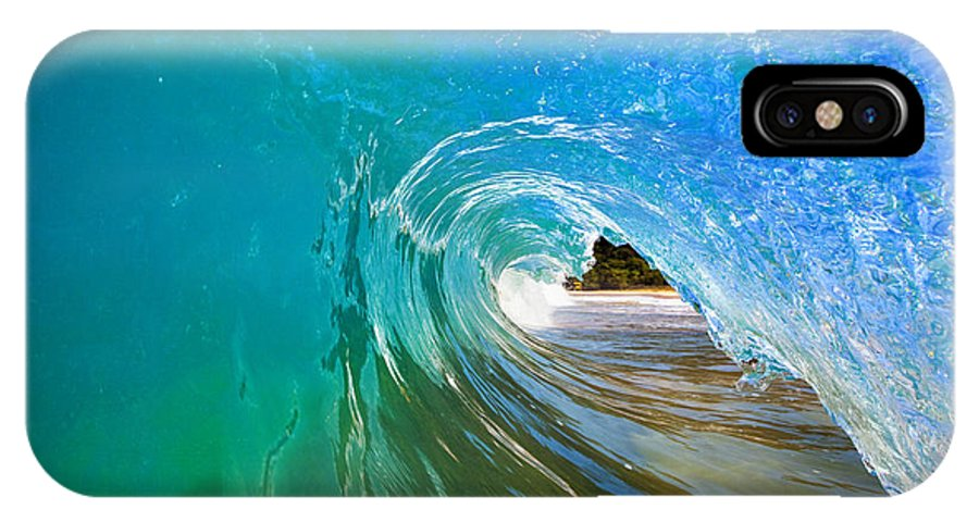 Amazing IPhone X Case featuring the photograph Inside a Wave by MakenaStockMedia