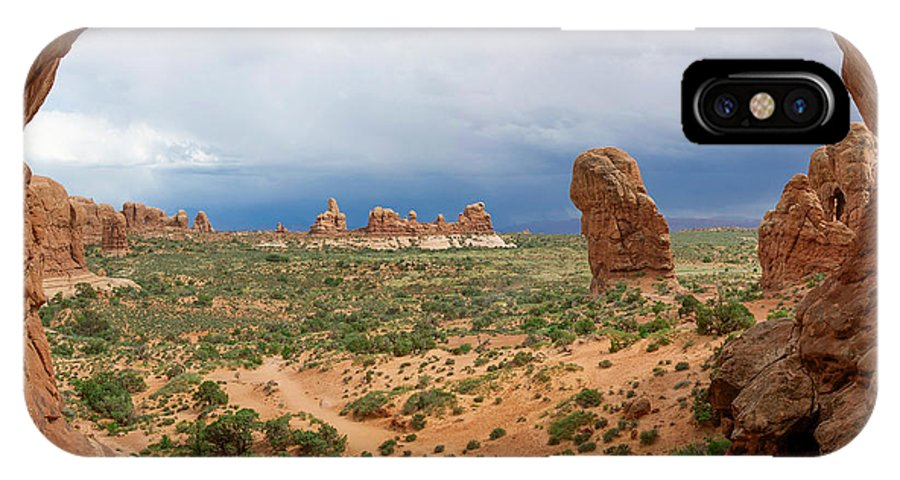 Arches National Park IPhone X Case featuring the photograph Inside Double Arch by Aaron Spong