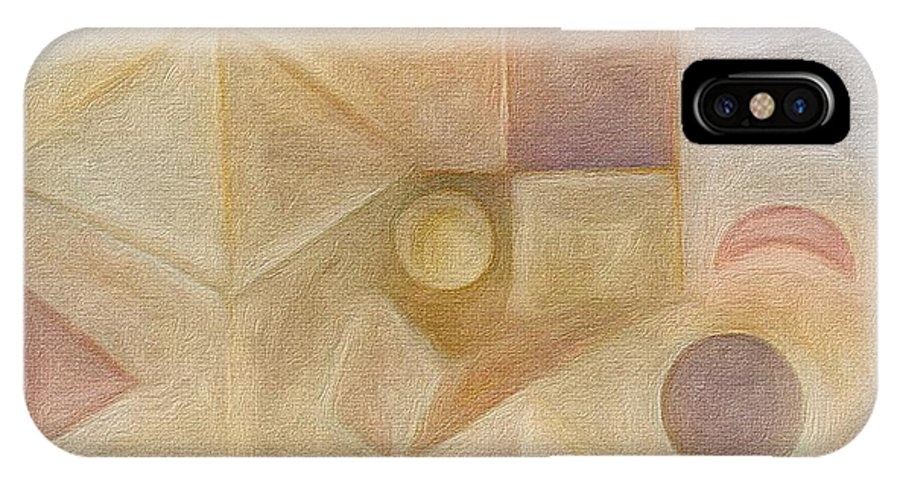 Brushstroke IPhone X Case featuring the painting Inside The Box2 by Judith Chantler