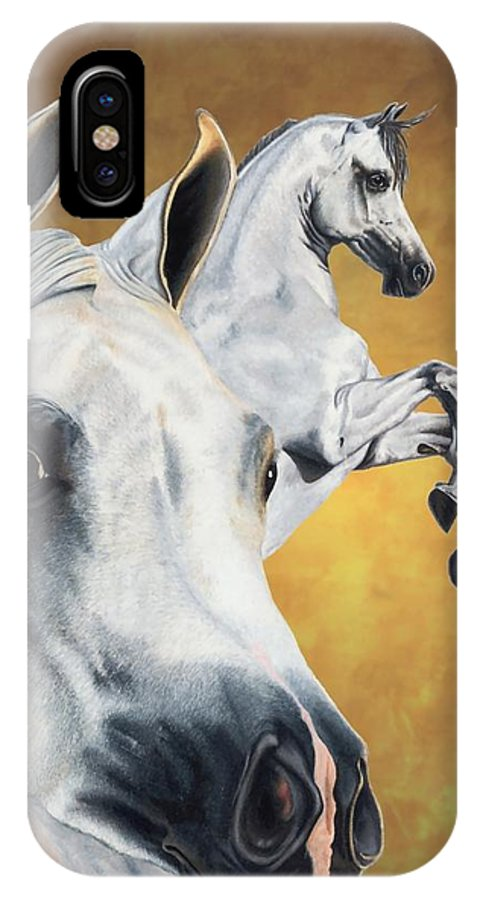 Horse IPhone X Case featuring the drawing Inspiration by Kristen Wesch