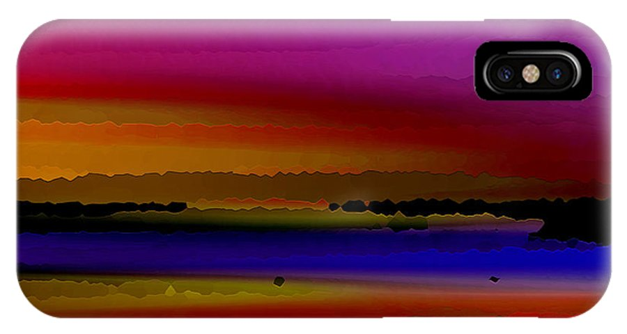Abstract IPhone X Case featuring the digital art Intensely Hued by Ruth Palmer