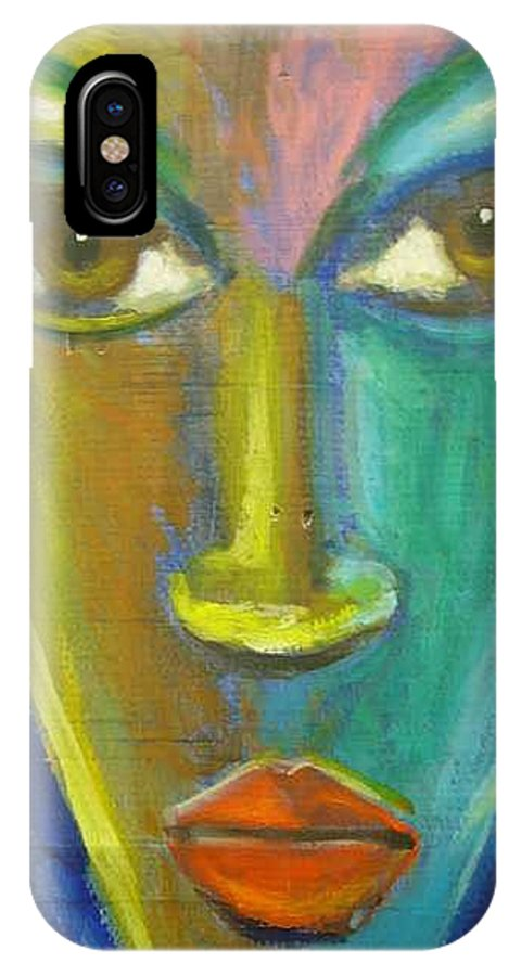 Painting IPhone X Case featuring the painting Intensity by Jan Gilmore