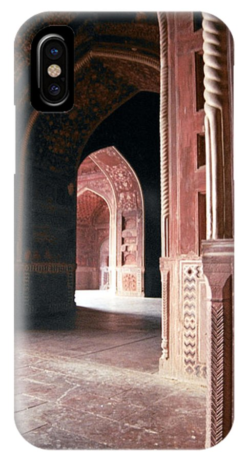 India IPhone X Case featuring the photograph Interior Of Guest House India by Diana Davenport