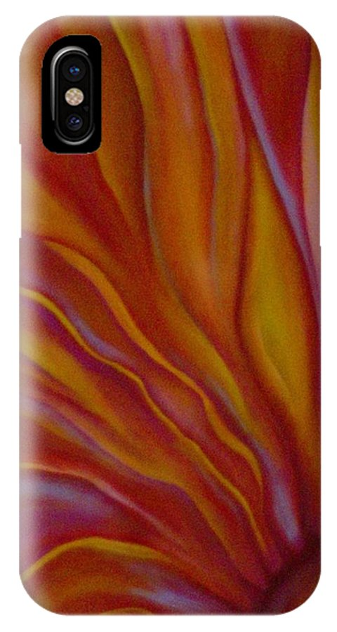Floral IPhone X Case featuring the painting Internal Floral by Sidra Myers
