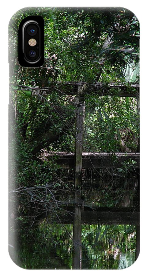Woods IPhone X Case featuring the photograph Into Green by Greg Patzer