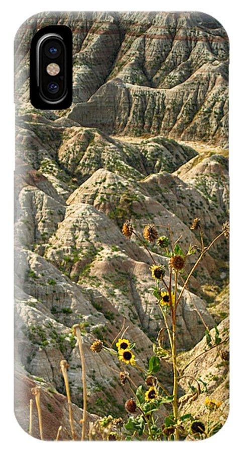 Ann Keisling IPhone X / XS Case featuring the photograph Into The Badlands South Dakota #3 by Ann Keisling