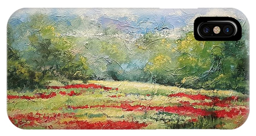 Clover Pastures IPhone X Case featuring the painting Into The Clover by Ginger Concepcion