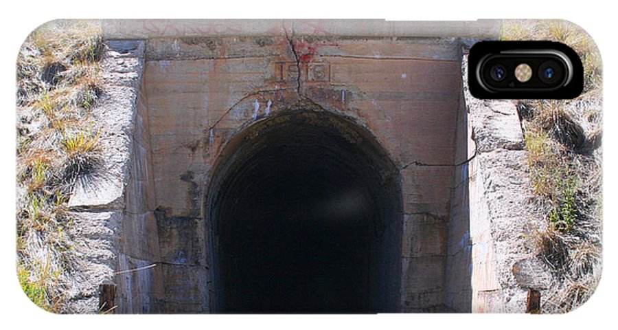 Tunnel IPhone X / XS Case featuring the photograph Into The Darkness by Pat Turner