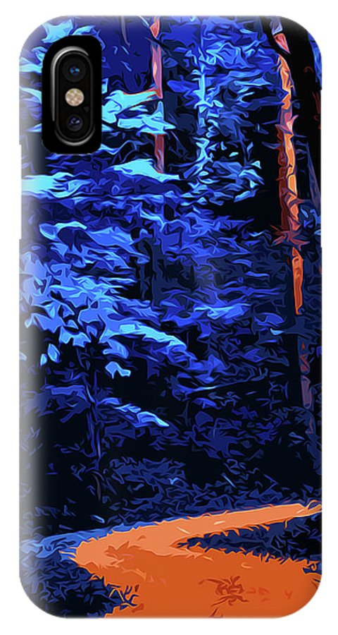 Into The Forest IPhone X Case featuring the painting Into The Forest Of Night by Andrea Mazzocchetti