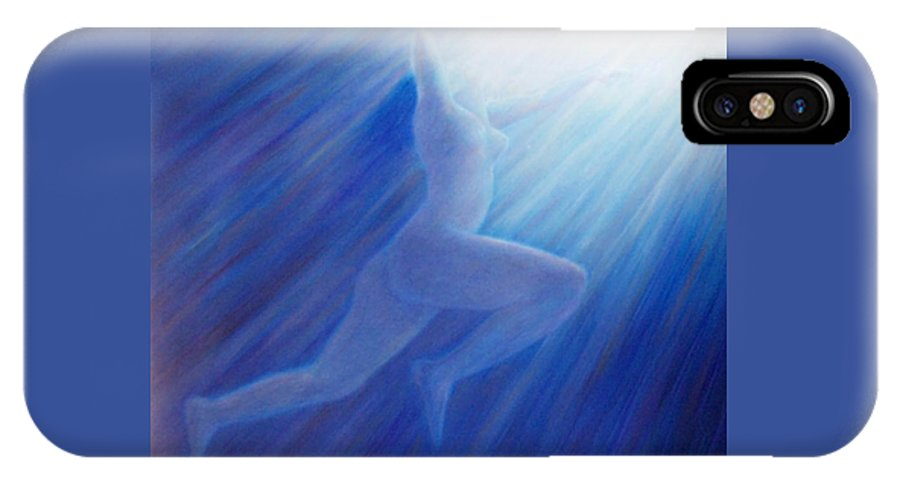 Spiritual IPhone X Case featuring the painting Into The Light by Brian Commerford