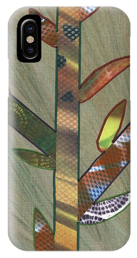 Into The Tall Grass IPhone X / XS Case featuring the mixed media Into The Tall Grass by David Jacobi