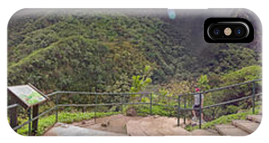 Valley IPhone X Case featuring the photograph Io Valley Panorama by Peter J Sucy