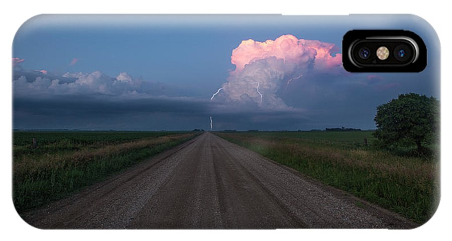 Supercell IPhone X Case featuring the photograph Iowa Supercell by Aaron J Groen