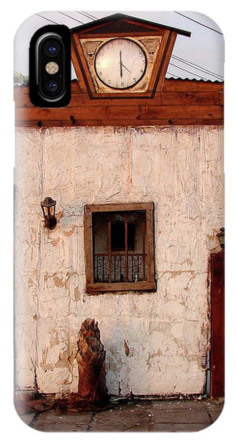 Iquique IPhone X Case featuring the photograph Iquique Chile Cantina by Brett Winn