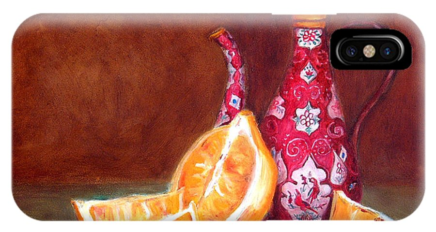 Lemons IPhone Case featuring the painting Iranian Lemons by Enzie Shahmiri