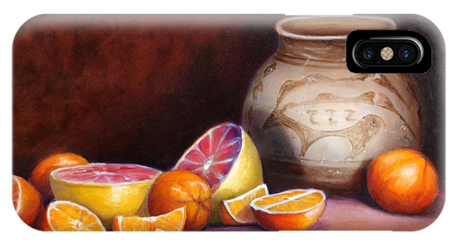 Still Life Paintings IPhone Case featuring the painting Iranian Still Life by Enzie Shahmiri
