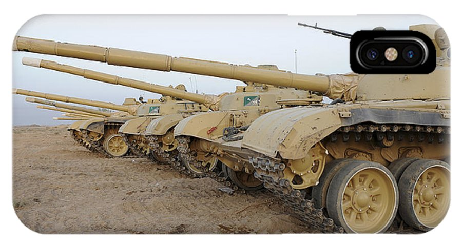Iraqi Army IPhone X Case featuring the photograph Iraqi T-72 Tanks From Iraqi Army by Stocktrek Images