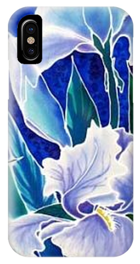 Iris IPhone X Case featuring the painting Iris by Francine Dufour Jones