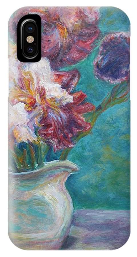 Impressionist IPhone X Case featuring the painting Iris Medley - Original Impressionist Painting by Quin Sweetman