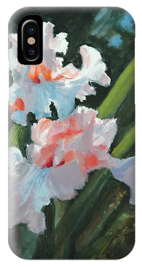 Irises IPhone Case featuring the painting Iris Pour Une Belle Femme by Glenn Secrest