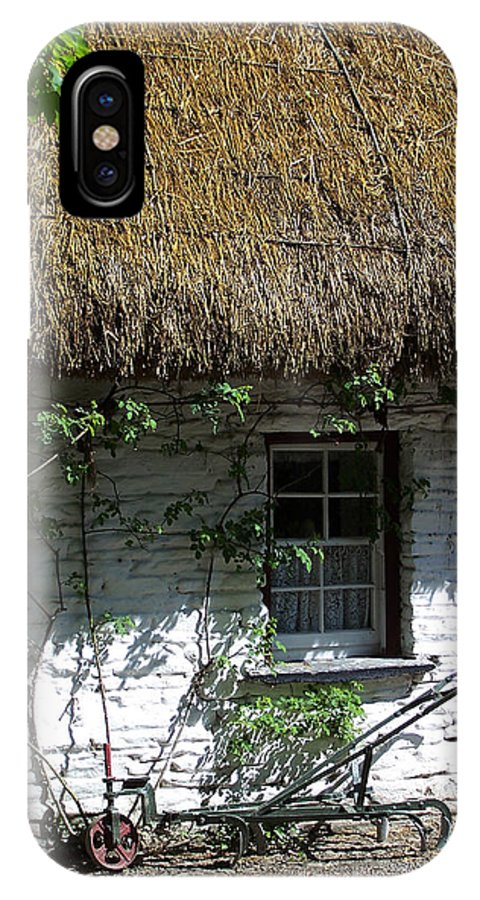 Irish IPhone X Case featuring the photograph Irish Farm Cottage Window County Cork Ireland by Teresa Mucha