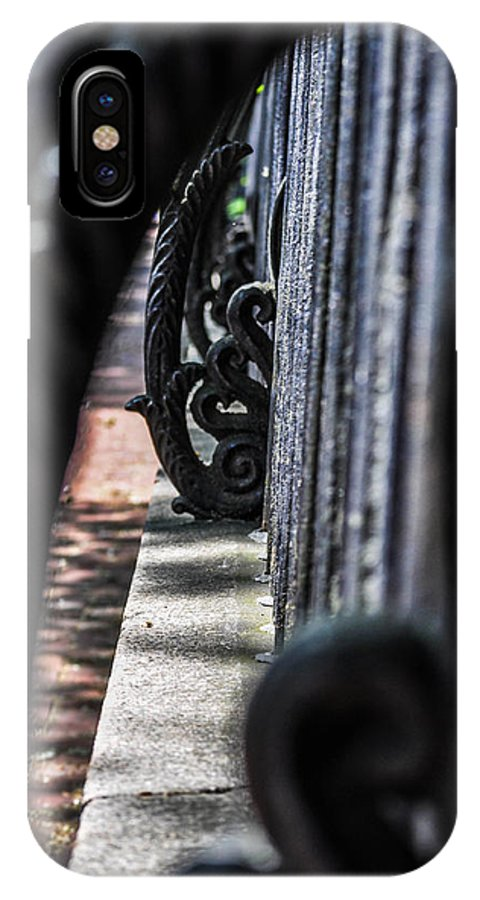 Fence IPhone X Case featuring the photograph Iron Art by Terepka Dariusz