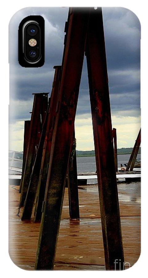 Plum Island IPhone X / XS Case featuring the photograph Iron Pillars by John Kenealy