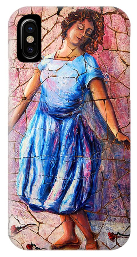 Isadora Duncan IPhone X Case featuring the painting Isadora Duncan - 2 by OLena Art Brand