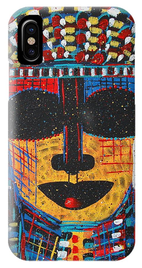 Abstract IPhone X Case featuring the painting Isatoria by Natalie Holland